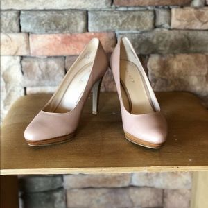 High heels, nude color, slightly used